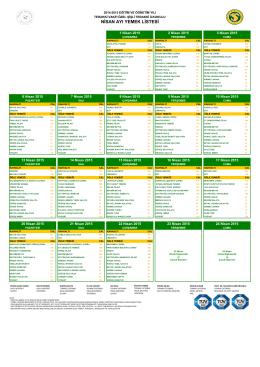 nisan ayı yemek listesi