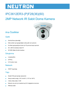 IPC3612ER3-(P)F28(36)(60) 2MP Network IR Sabit Dome