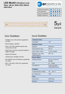 Liner Alüminyum 270x35mm 350mA Sabit Akım (48