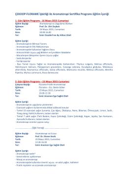 ÇEKOOP-FLORAME İşbirliği ile Aromaterapi Sertifika Programı
