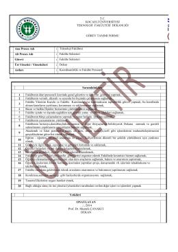 fakülte sekreteri görev tanımı - Kocaeli Üniversitesi Teknoloji Fakültesi
