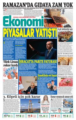 13 haziran 2015 - Ekonomi Gazetesi
