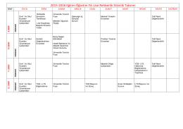 2015-2016 Eğitim Öğretim Yılı Lise Rehberlik Etkinlik Takvimi