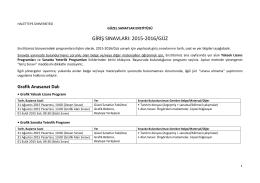 2015-2016/güz - Hacettepe Üniversitesi Güzel Sanatlar Enstitüsü