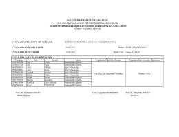 formasyon staj listesi 2014-2015 - Eğitim Fakültesi