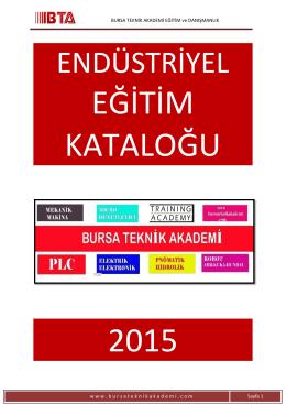 içindekiler - Bursa Teknik Akademi