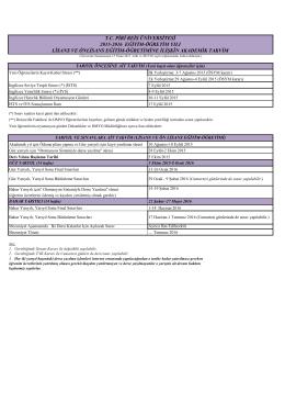 2015-2016 eğitim-öğretim yılı lisans ve önlisans eğitim