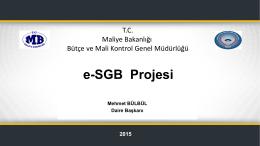 SGB Bilgi Sistemi - İç Kontrol - Bütçe ve Mali Kontrol Genel Müdürlüğü