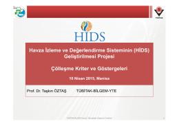 Havza İzleme ve Değerlendirme Sisteminin (HİDS) Geliştirilmesi