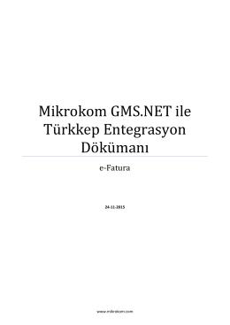 e-Fatura Türkkep Entegre Dokümanı