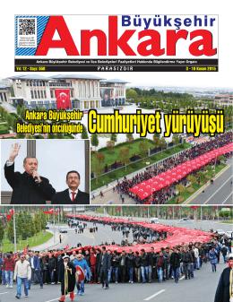 Ankara Büyükşehir Belediyesi`nin öncülüğünde Ankara Büyükşehir