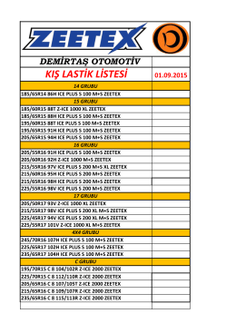 01.09.2015 - Demirtaş Otomotiv