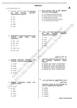 Anadolu Üniversitesi Açıköğretim Sistemi 2012-2013