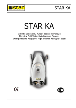 USER MANUAL KA - Star Temizlik Makinaları