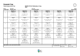 Tennis Europe Tournament Planner
