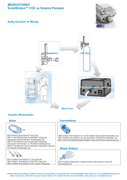 Medivators EndoStratus™ CO2 Insufflator Kolay Kurulum ve Montaj