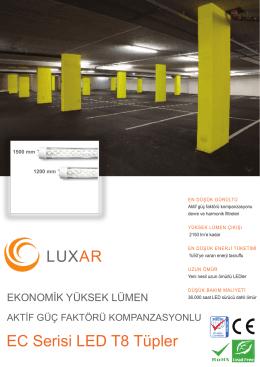 LUXAR EC Serisi LED T8 Tüpler