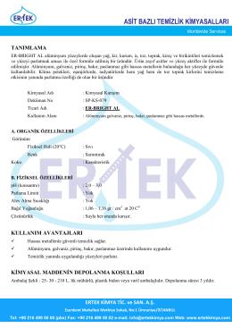 ER-BRIGHT AL Alüminyum Parlatıcı ve Temizleyici