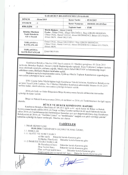 05.10.2015 Tarihli Meclis Kararı
