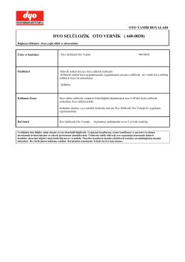 440-0030 - Selülozik Oto Verniği