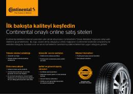 İlk bakışta kaliteyi keşfedin Continental onaylı online satış siteleri