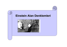 Einstein Alan Denklemleri