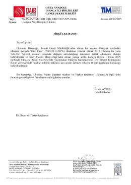 Ukrayna/Anti-Damping Önlemi
