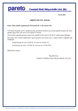 sırk-16-02 2016 yılında uygulanacak sgk primi alt ve üst sınırları hk