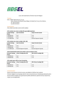 Luxar LED Aydınlatma Ürünleri Garanti Belgesi