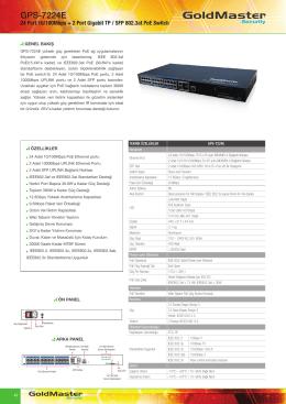 GPS-7224E Broşür - Goldmaster Güvenlik Sistemleri