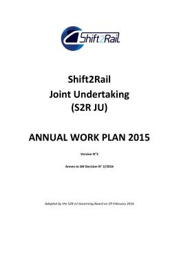 S2R 2015 Annual Work Plan