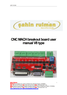 CNC MACH breakout board user manual V8 type