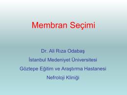 Ali Rıza ODABAŞ - Nefroloji Kış Okulu 2015