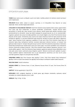 TANIM: Epoxy reçine esaslı, üç bileşenli, quartz kum