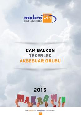CAM BALKON TEKERLEK AKSESUAR GRUBU