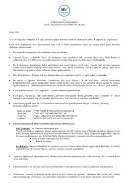 2015-2016 eğitim öğretim yılı ana sınıfı kayıt mektubu