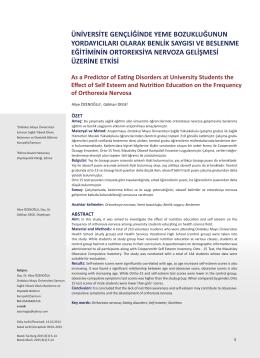 PDF - Bozok Tıp Dergisi