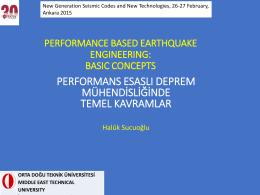 performans esaslı deprem mühendisliğinin temel kavramları