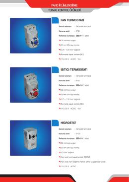 termal kontrol ürünleri