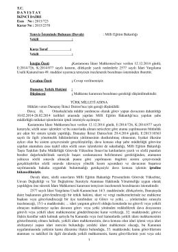 Milli Eğitim Bakanlığı Taşra Teşkilatı Şube Müdürlüğü