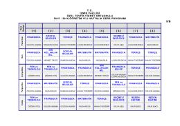 5/B Sınıfı Ders Programı - Özel Tevfik Fikret Okulları