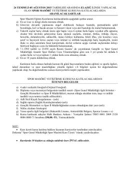 24 TEMMUZ-05 AĞUSTOS 2015 TARĠHLERĠ ARASINDA ELAZIĞ