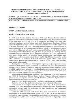 07 Temmuz 2015 - Merzifon Belediyesi