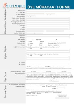 Formlar - yetimder.org.tr