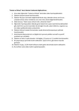MAB 319 Hukuk ve İktisat dersine ilişkin ödev almak isteyen