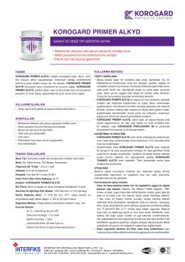 Teknik Bilgi Föyü - İnterfiks Yapı Kimyasalları