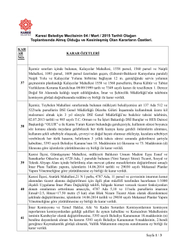 Sayfa 1 / 3 Karesi Belediye Meclisinin 04 / Mart / 2015 Tarihli Olağan