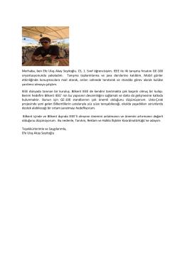 Merhaba, ben Efe Ulaş Akay Seyitoğlu. CS, 1. Sınıf öğrencisiyim