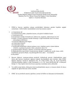 Tez Protokolu ve Başvuru Dosyası Hazırlama Bilgilendirme Formu
