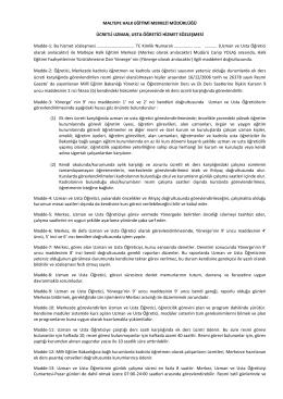Usta Öğretici Sözleşme Örneği - MALTEPE
